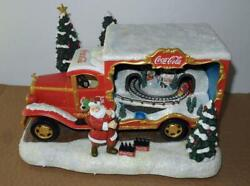 Old Coca Cola Bringing Holiday Cheer Bradford Exchange Truck W/ Train And Music