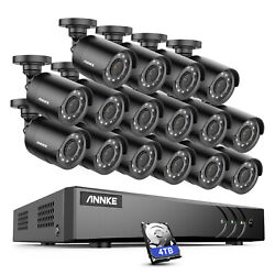 Annke 1080p Video 16ch 5in1 Dvr Security Camera System Night Vision Kit 0-4tb Us