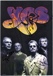 Yes Band, Fully Signed Jon Anderson Steve Howe Chris Squire Alan White Autograph