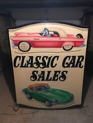 Incredible Classic Car Sign , Double Sided, Lights Up
