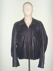 70and039s Black Leather Jacket Patrolmanand039spolice Dept Issueflip Leather Inc Usa