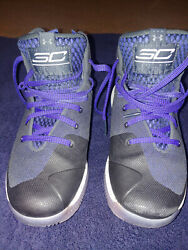 Under Armour Menand039s Curry 3zero Wardell Sc Basketball Shoes Blac/purple Size 5.5y