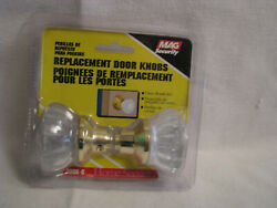 New Mag Security 8866-g Replacement 2 Crystal Style Glass Doorknob Set