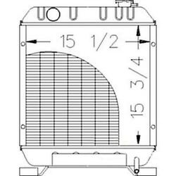 New Northern 211054 Radiator Fits Ford Fits New Holland And Fits Case Ih Tractor 8