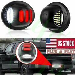 Red Smd Tube Led License Plate Tag Light Lamp For 1999-2016 Ford F150 F250 F350