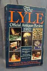 1992 Lyle Official Antiques Review Price Guide Furniture Dolls Pottery Glass