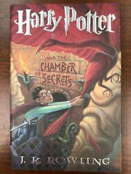Signed Harry Potter And The Chamber Of Secrets 1st/1st Rare Typo Hcdj Unread