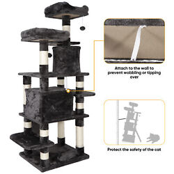 67 inches Multi Level Cat Tree for Large Cats Cat Tower Cat Condo Pet Play House