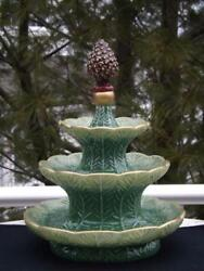 Department 56 Christmas Pine Cone 3 Tier Tidbit Stand