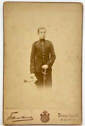 King Alfonso Xiii Of Spain Antique Cabinet Card Photograph