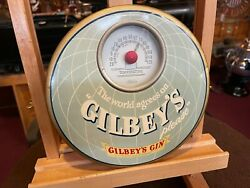 Gilbey's Gin 9 Tin Over Cardboard Thermometer Sign  Watch Our Video