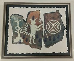 Ginny Hogan Deckle Series Matted Framed Print And Pottery Piece Southwest