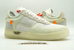 Nike Air Force 1 Af1 Low New Size 13 The 10 Off-white Virgil Ao4606 100