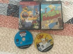 The Simpsons Hit And Run Complete Androad Rage,the Simpson's,skateboarding Ps2 Game
