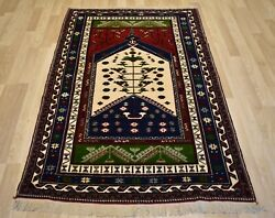 Antique Tree Of Life Never Been Used Anatolian Konya Dowry Rug 4ft 5x 7ft