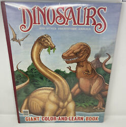 Rare 1993 Vtg Htf Giant Color And Learn Books 2 Sealed Dinosaurs And Things That Go