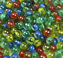 200 Glass Marble Sling Shot Ammo Cats Eyes Game Marble Bulk Piece Shooters