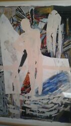 Spain Famous Alfonso Albacete 1986 Large Mixed Media Marlborough Gallery Artist