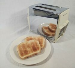 Vintage Proctor Silex Toaster With Cover 2 Slice T621wf Type T6 Tested