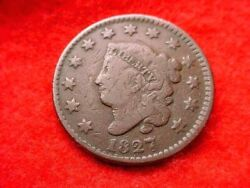 1827 Coronet Head Large Cent Nice Coin--no Reserve 44