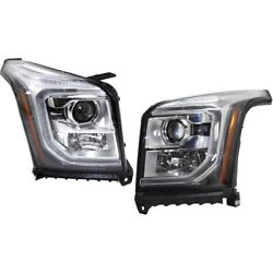 Set Of 2 Headlights Lamps Left-and-right 84294010, 84294009 Lh And Rh For Gmc Pair
