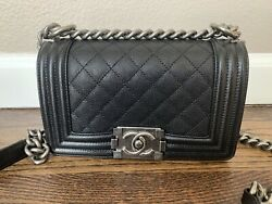 100% Authentic Brand New Black Caviar Le Boy Small Chanel Bag With Receipt $5000.00