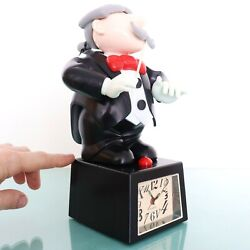 Musical Alarm Mantel Top Clock Vintage Conductor 5th Beethoven Xl Movable Rare