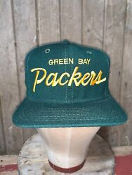 Vintage 80s Green Bay Packers Nfl Sports Specialties Wool Hat Snapback Youngan