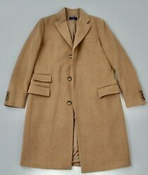 Recent Polo Wool And Cashmere Camel Colored Topcoat Sz Xs 36
