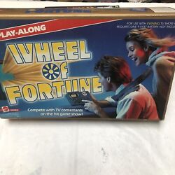 Wheel Of Fortune Tv Show Play Along Electronic Handheld Interactive Game Vintage