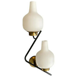 Set Of Two Stilnovo Mid-century Modern Huge Wall Sconces About 1950