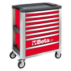 Beta Tools C39 Red Mobile Rolling Tool Cabinet 31.49 W X 19.68 D X 38.22 H