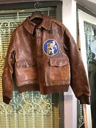A-2-rough Wear Horsehide Flying Jacket Original Us Army Air Force Wwii Size 38
