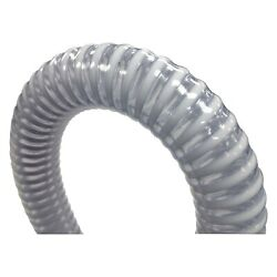 1-1/8d X 50 Hoseand039l Clear/white Pvc Extra Heavy Duty/commercial Grade