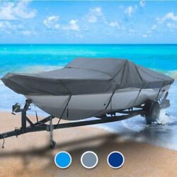 Triton All Weather 34 Boat Coverand0396 L X 120 W Gray Outdoor Custom Fit Fishing