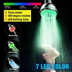 New Colorful Shower Head Home Bathroom 7 Led Colors Changing Water Glow Light Us