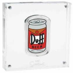 110243 2019 1 The Simpsons Duff Beer 1oz Silver Proof Coin Collecting Collect