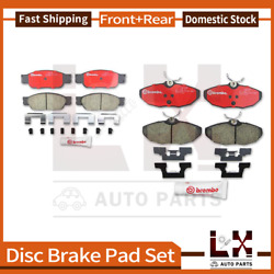 Front And Rear Brembo Ceramic Brake Pads Set Set For 2000-2006 Lincoln Ls