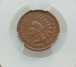 1866 Indian Cent Graded Xf-40 By Pcgs Nice