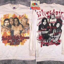 Vintage 1996 Red Hot Chili Peppers Silverchair Frogstomp One Hot Minute Tour Tee