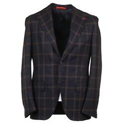 Isaia 'marechiaro' Extra-soft Brushed Flannel Wool Suit 38r Eu 48 Nwt