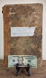 Antique 1875 Day Book Ledger Maine General Store 433 Pages Filled With Entries