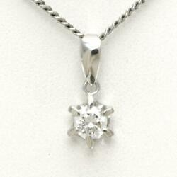 Jewelry Platinum 900 850 Necklace Diamond 0.31 Si1 About5.7g Free Shipping Used