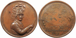 Russia By J.b. Glass 1770 91mm Medal Russo-ottoman Naval Battle Of Chesme Au