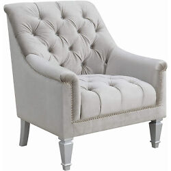 Coaster Home Furnishings Co-508463 Accent Chair Grey And Silver