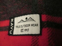 Kavu True Outdoor Wear Red Black Gray Thin Poncho Wrap For Picnic Table 60x52