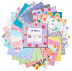 Full Bloom 5 Inch Squares X 42 Pieces New Cotton Quilt Fabric Charm Stacker Pack