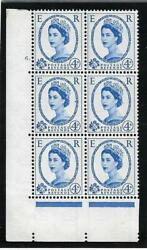 1958 4d Graphite Cylinder 6 Dot Perf Type Ae/i Unmounted Mint/mnh