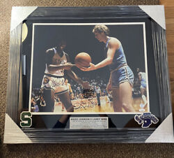 Magic Johnson Larry Bird 1979 Ncaa Championship Signed And Framed Photo Authentic