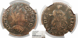 1785 Connecticut Copper Colonial Coinage Mailed Bust Right Miller 3.3-f.3 W-23